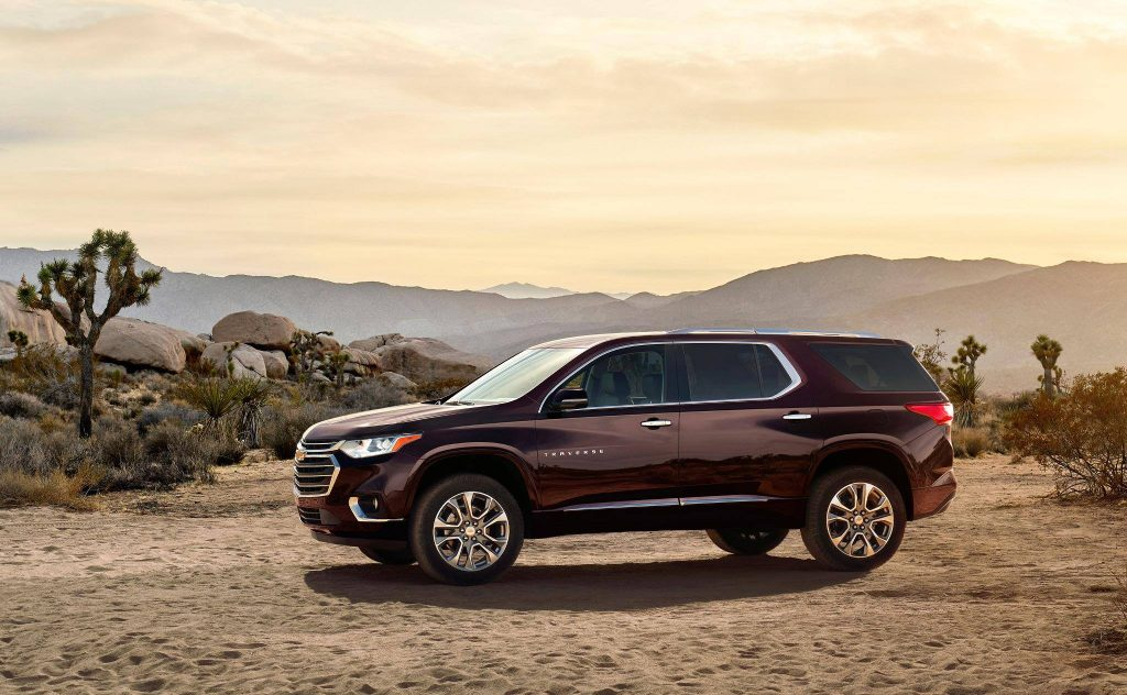 A Chevrolet Traverse model, one of the multiple brands represented by General Motors. Photo via generalmotors on Facebook