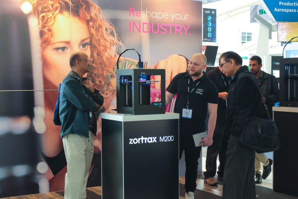 The Zortrax M200 machine at RAPID + TCT. Photo via Zortrax on Facebook