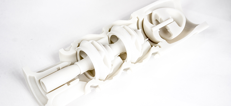 3D printed part produced on the ProJet MJP 5600. Image via 3D Systems.