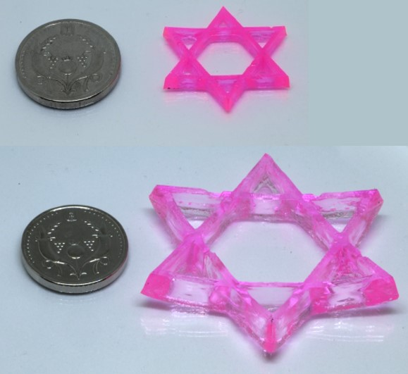 3D printed swelling hydrogels. Photo by Hebrew University of Jerusalem.