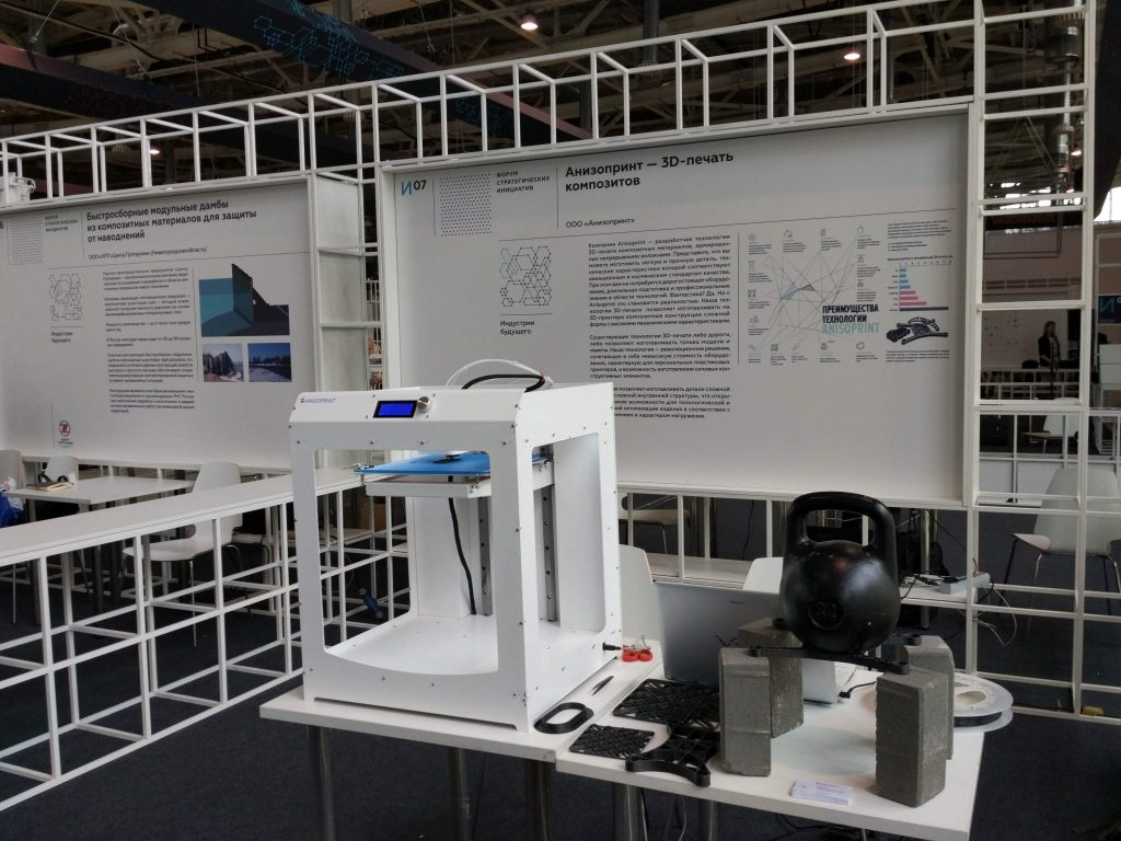 A working prototype of the Ansioprint 3D printer.