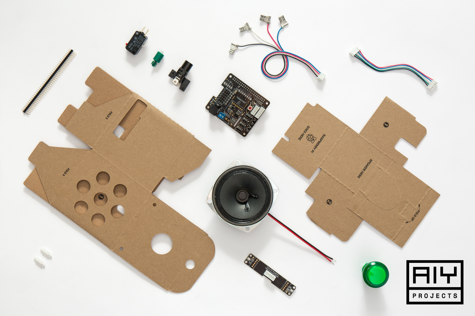 Contents of the Google Voice Kit. Image via Google.