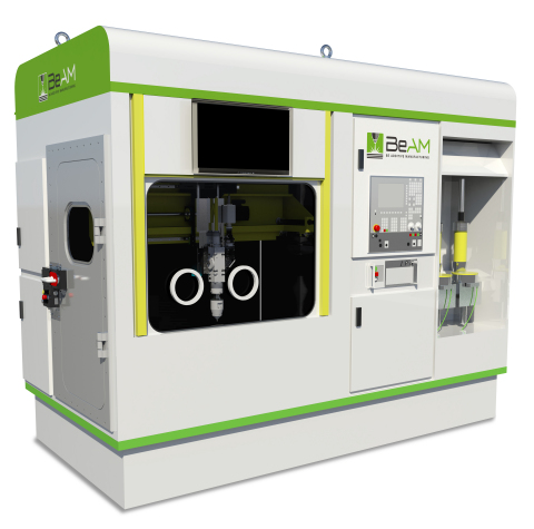 The Modulo 5-axis DED machine. Photo via BeAM Machines