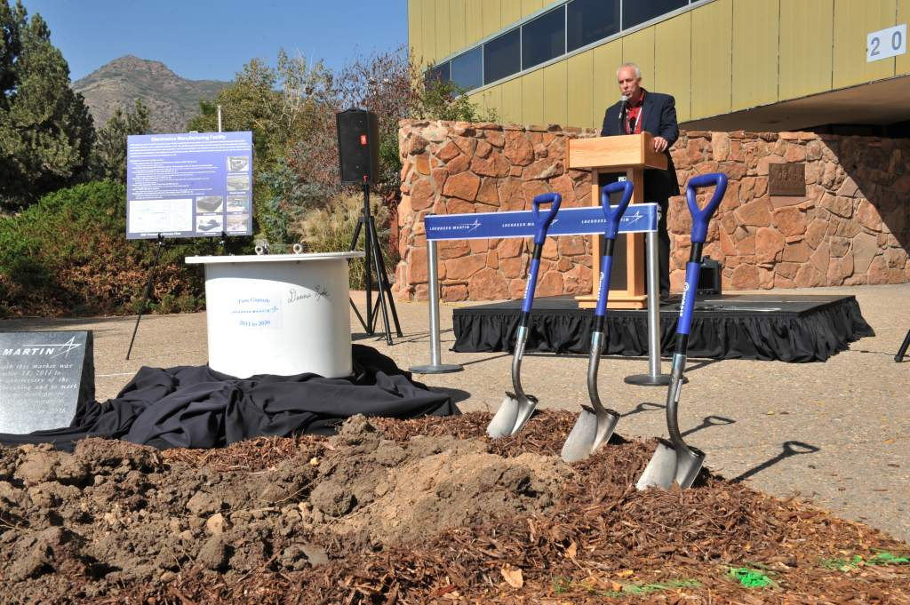 Brian O'Connor opens the Lockheed Martin Electronics Manufacturing Facility EMF at its Space Systems Company campus in Littleton, Colorado.