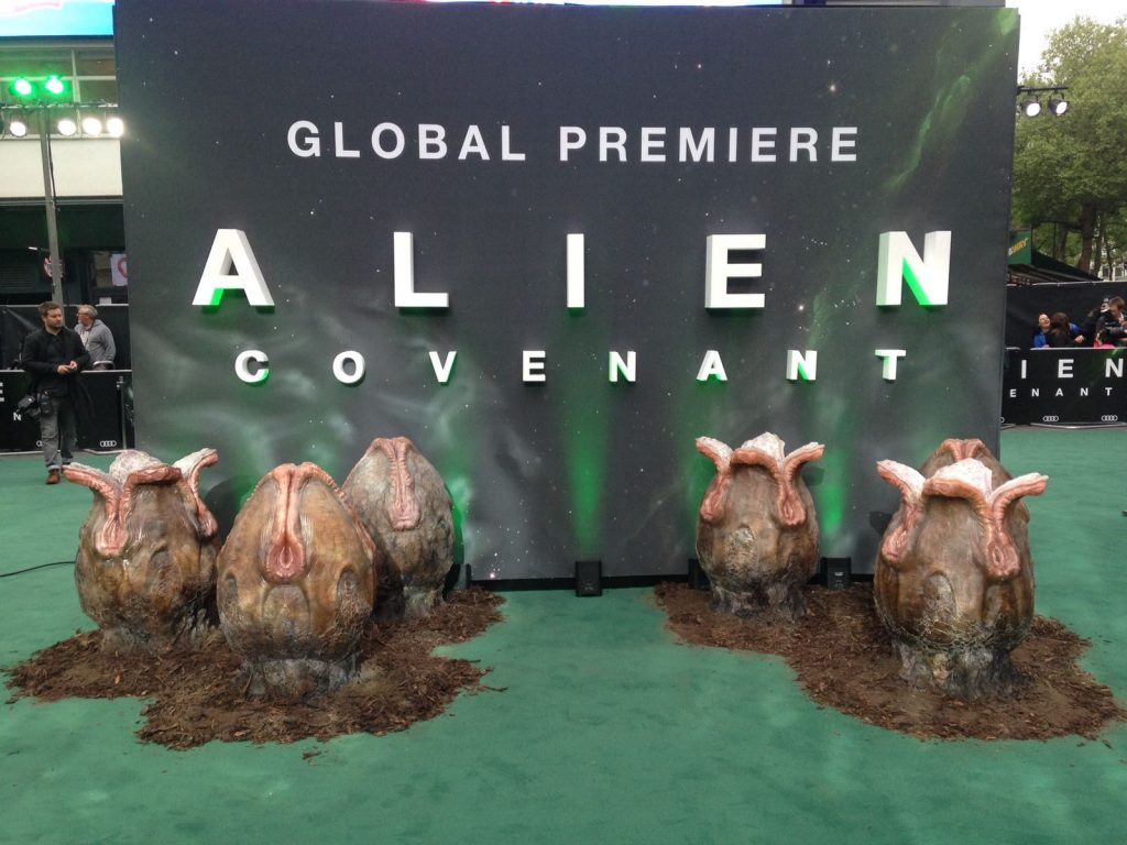 Ovomorph egg pods at the Alien: Covenant Premier in London. Photo via AlienMoviesUK on Twitter
