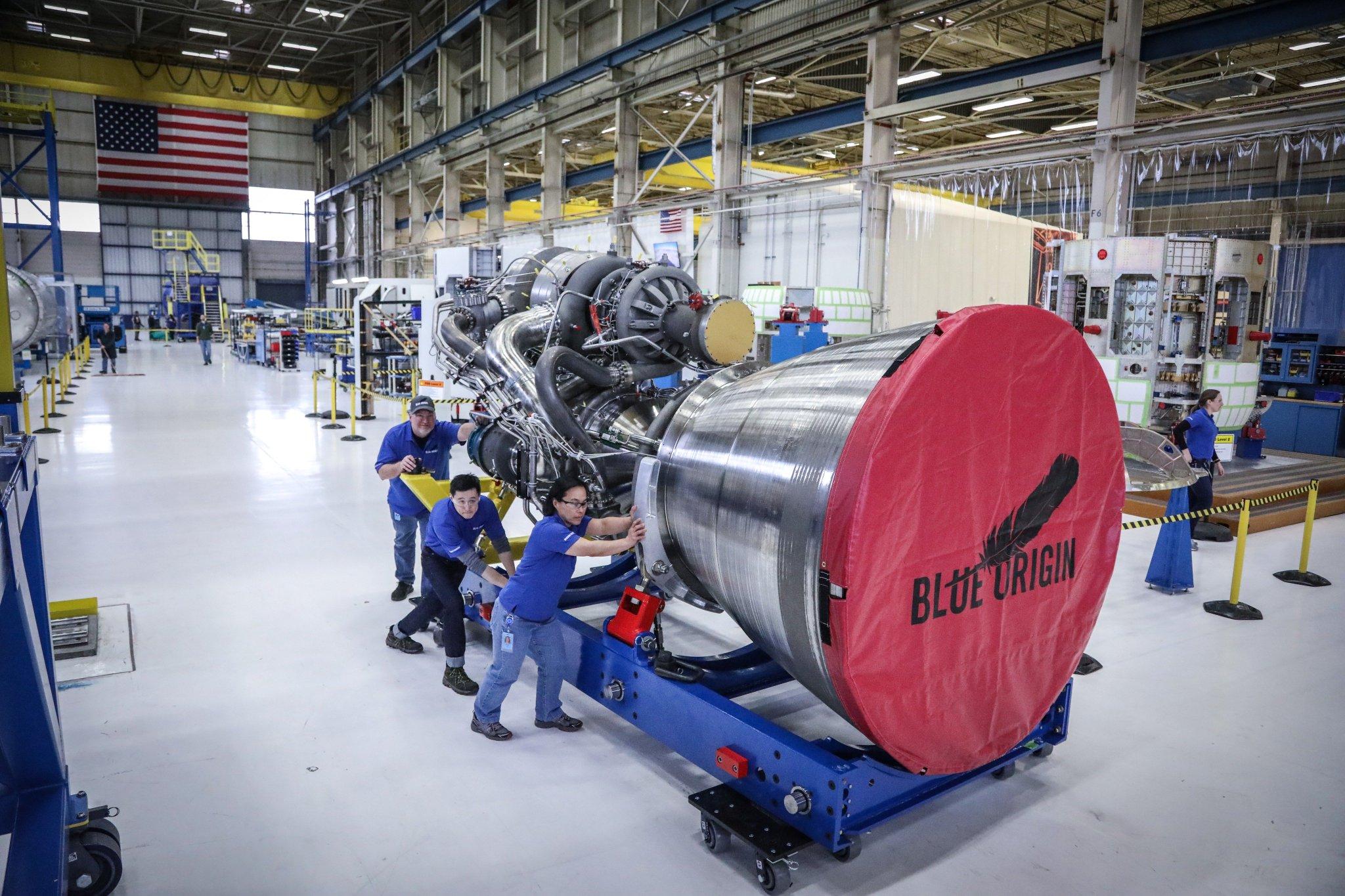 AR1's competition, the BE-4 rocket engine developed by Blue Origin. Photo via Jeff Bezos/Blue Origin.