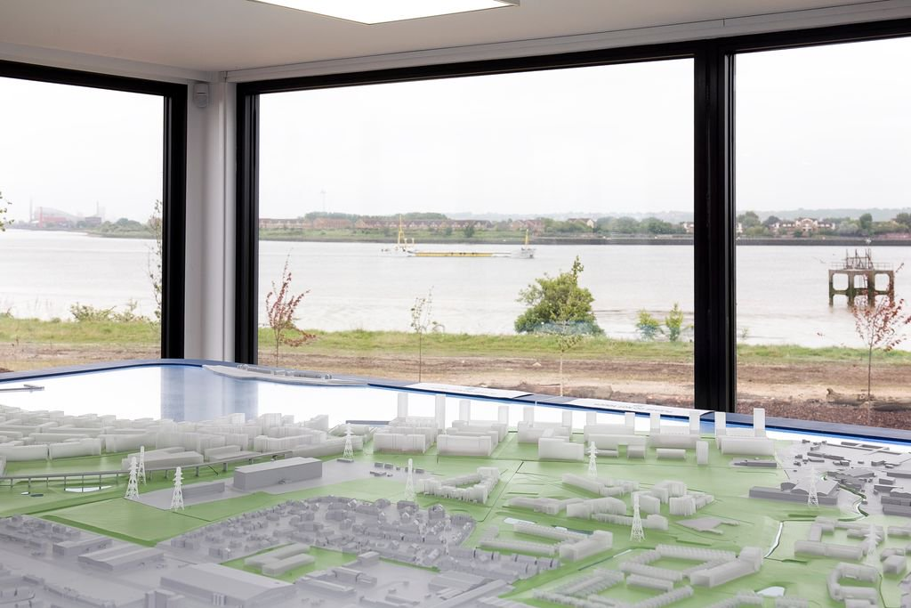 The model created with 3D printing. Photo via Barking Riverside.