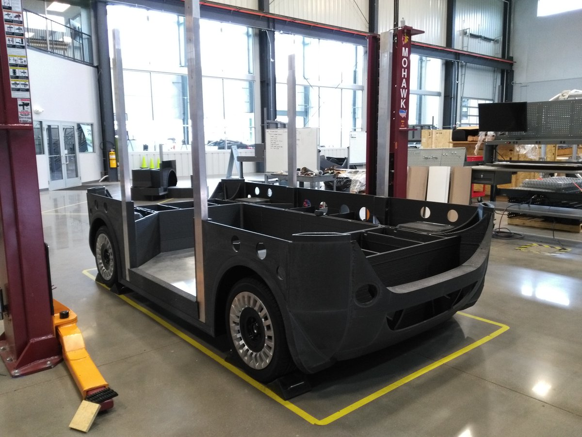 The bottom half of the 3D printed Olli in Knoxville. Photo via Local Motors.