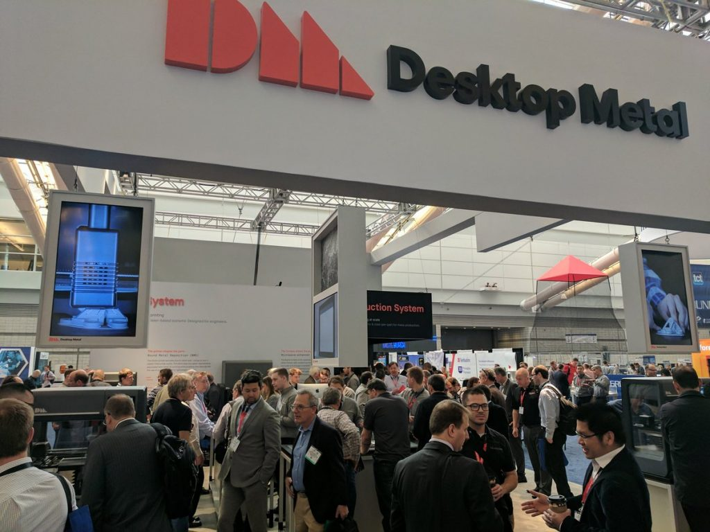 Desktop Metal's booth at RAPID + TCT 2017. Photo by Michael Petch