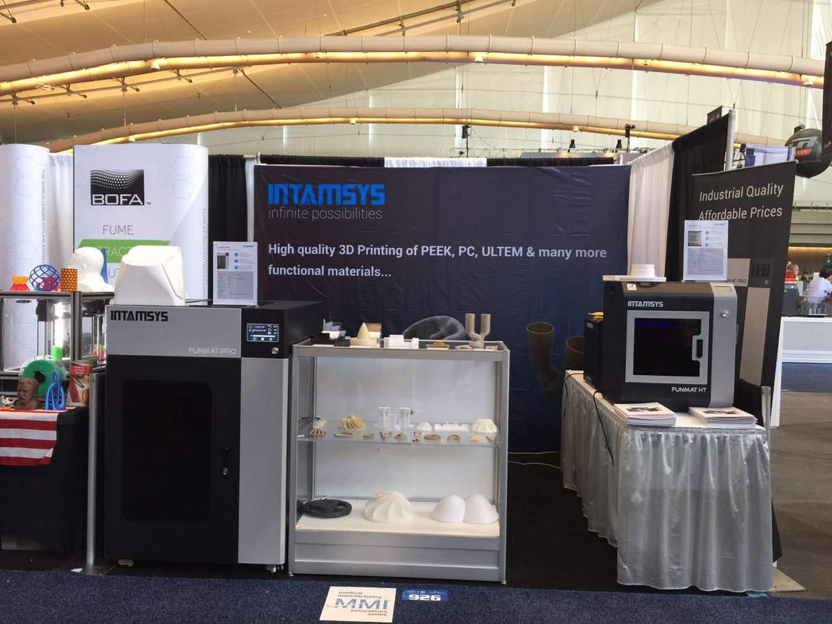 Intamsys stand at RAPID + TCT. Photo via Intamsys.