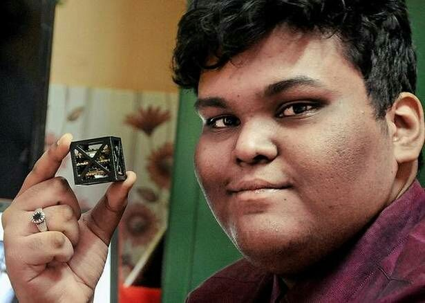 Indian student develops worlds smallest satellite ,, KalamSat for NASA launch