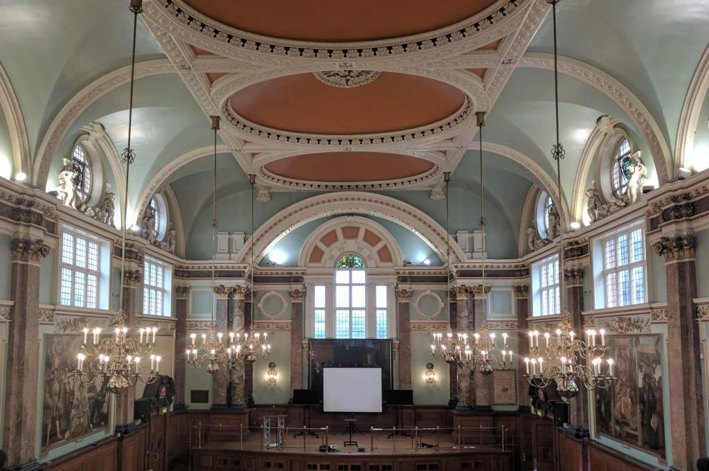 The venue for the 3D Printing Industry Awards, Chelsea Old Town Hall. Photo by Michael Petch.