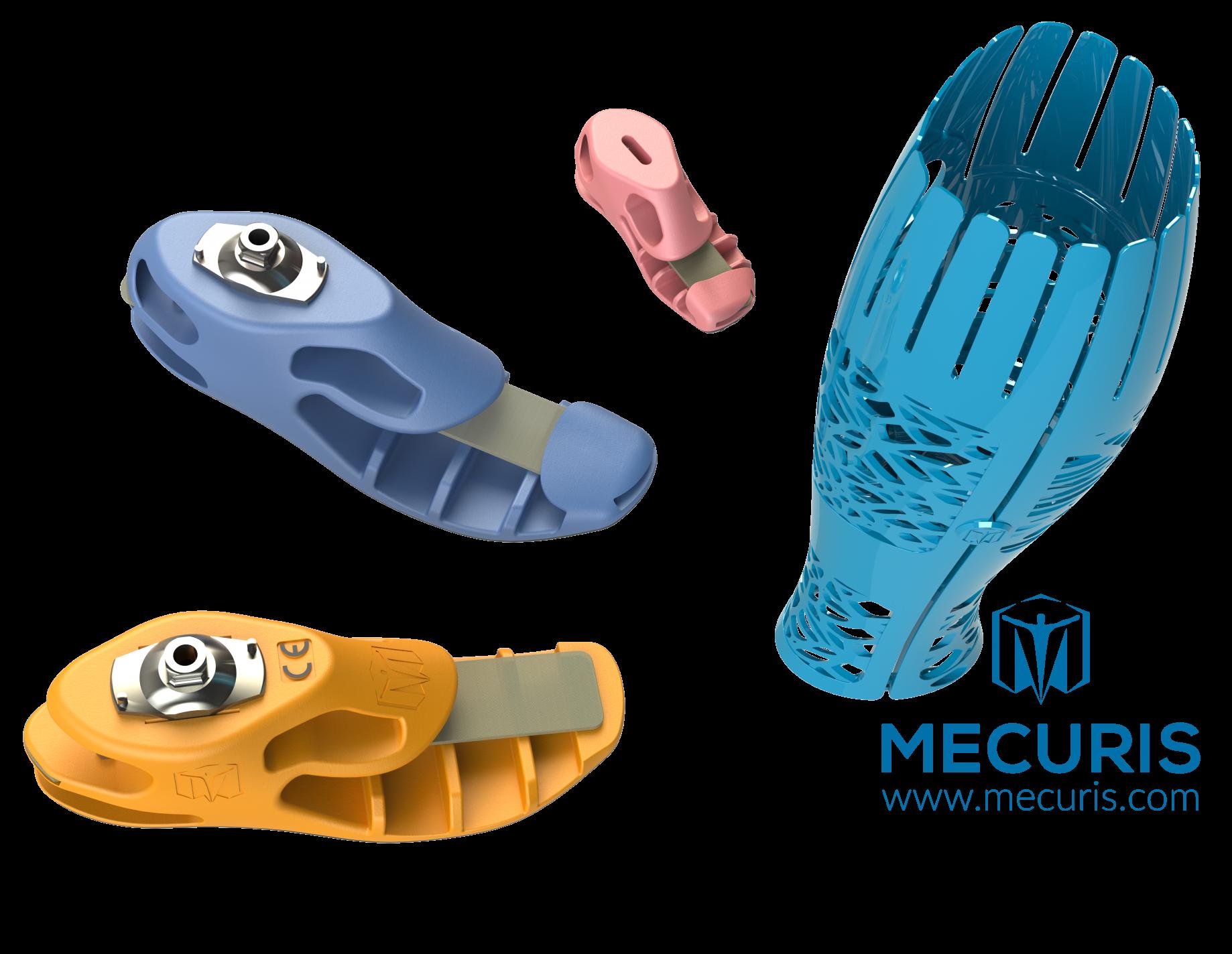 Rendering of the Mecuris prosthetic offerings. Image via Mecuris.