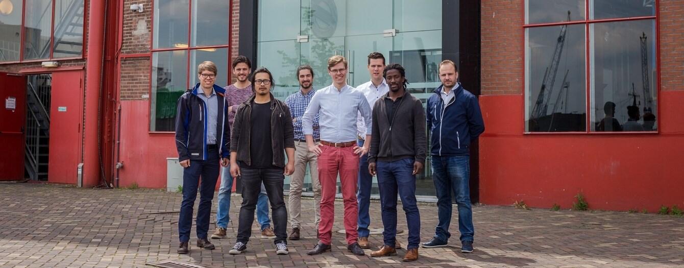 The consortium group including members of RAMLAB, Damen and Autodesk. Photo via Damen.