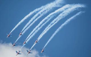 Aerial display at the Paris Air Show. Photo via siae.fr