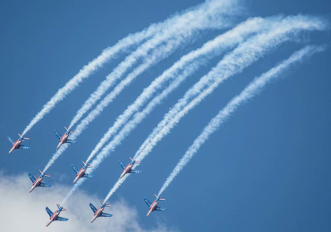 Aerial display at the Paris Air Show. Photo via siae.fr