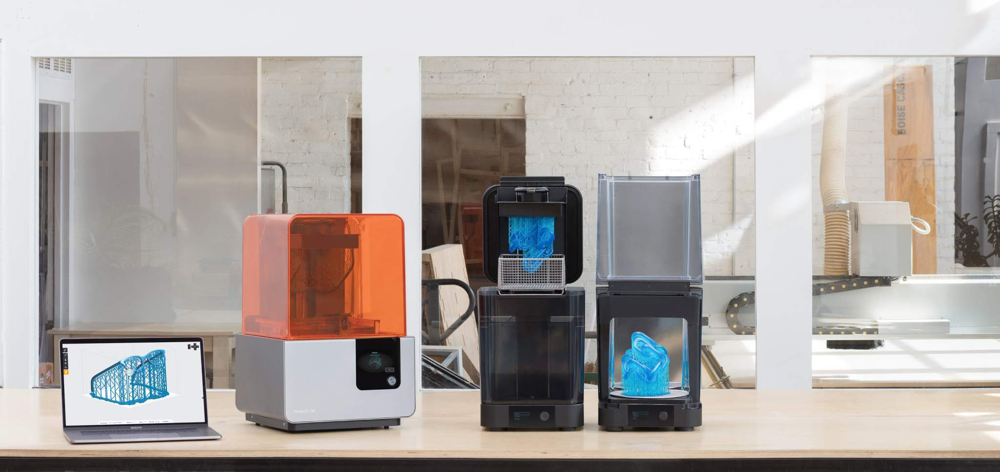 The updated workflow for the Form 2. Image via Formlabs.