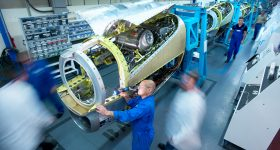 Airplace assembly. Photo via GKN Aerospace
