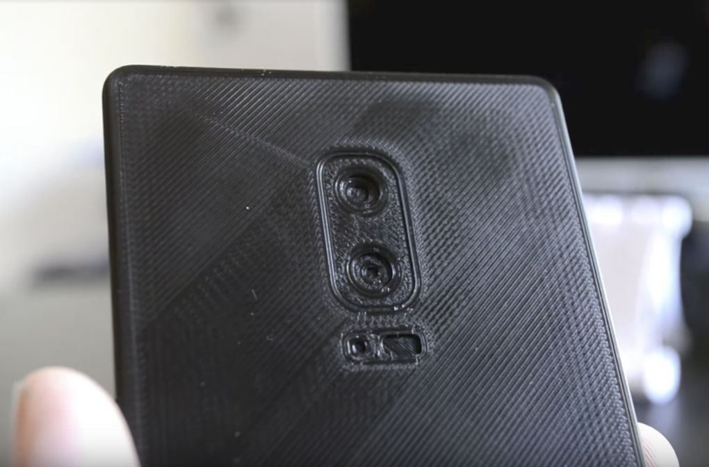 The 3D printed Galaxy Note 8.