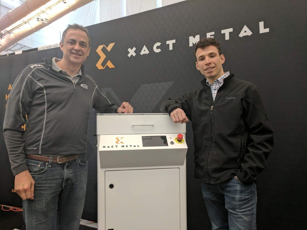 Juan Mario Gomez, CEO, and Matthew Woods, CTO, of Xact Metal. Photo by Michael Petch.