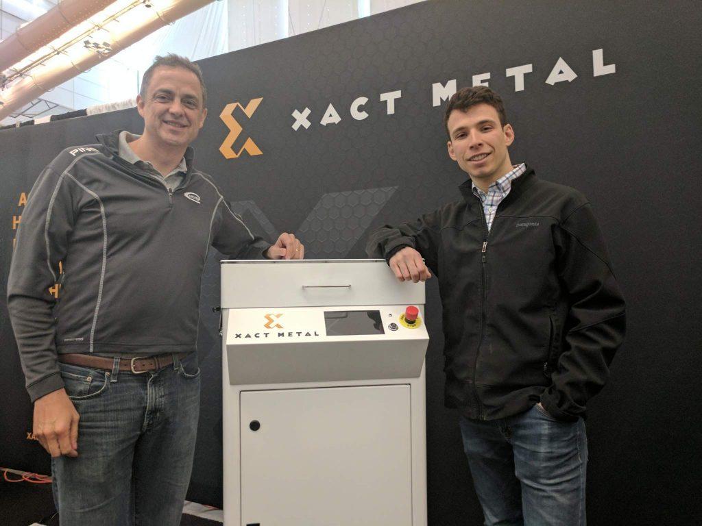 Juan Mario Gomez, CEO, and Matthew Woods, CTO, of Xact Metal. Photo by Michael Petch.