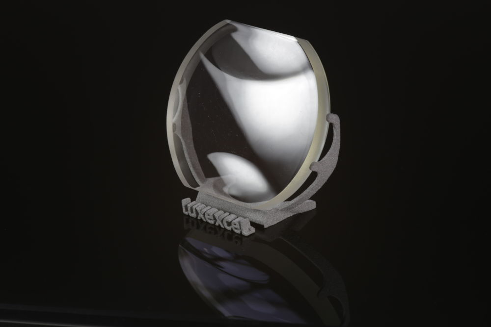Singular 3D printed lens. Image via Luxexcel.