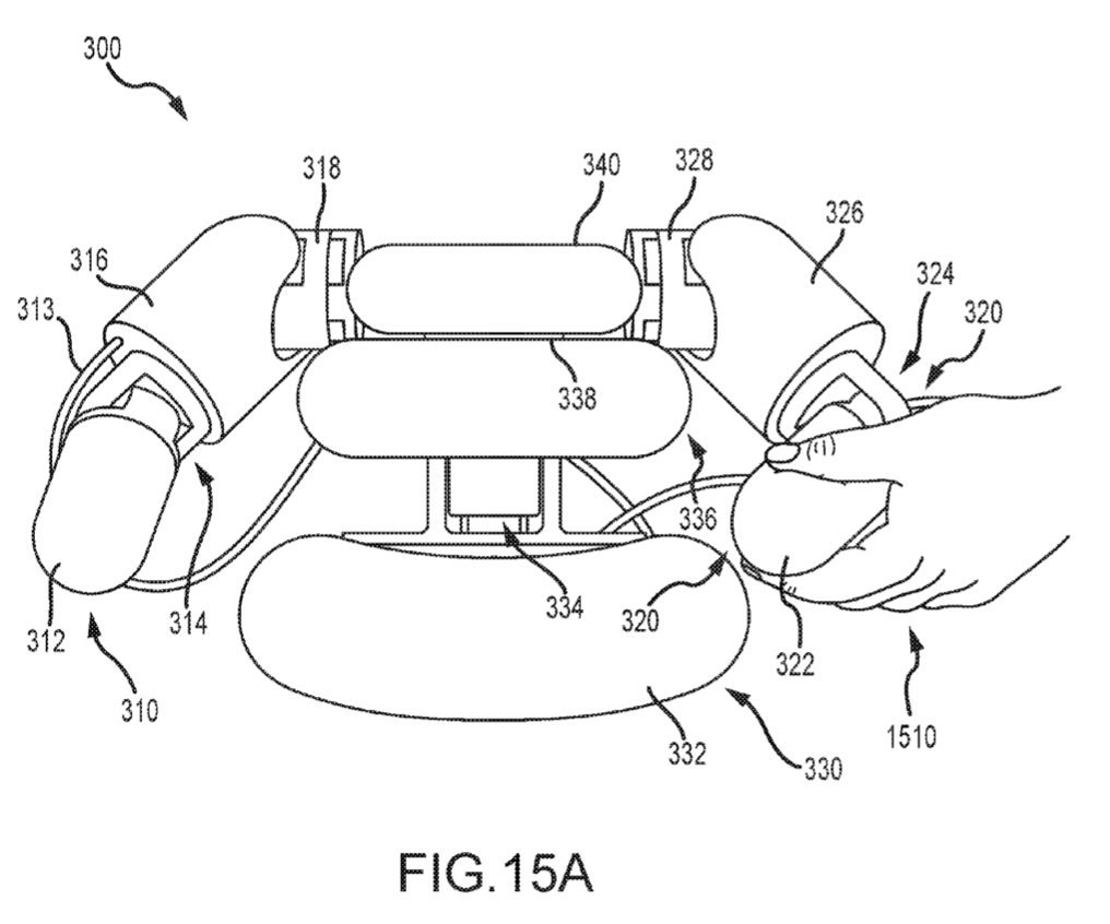 Patent diagram filed by Disney for a soft-robotic mascot. Image via Amane; Katsu; et al.