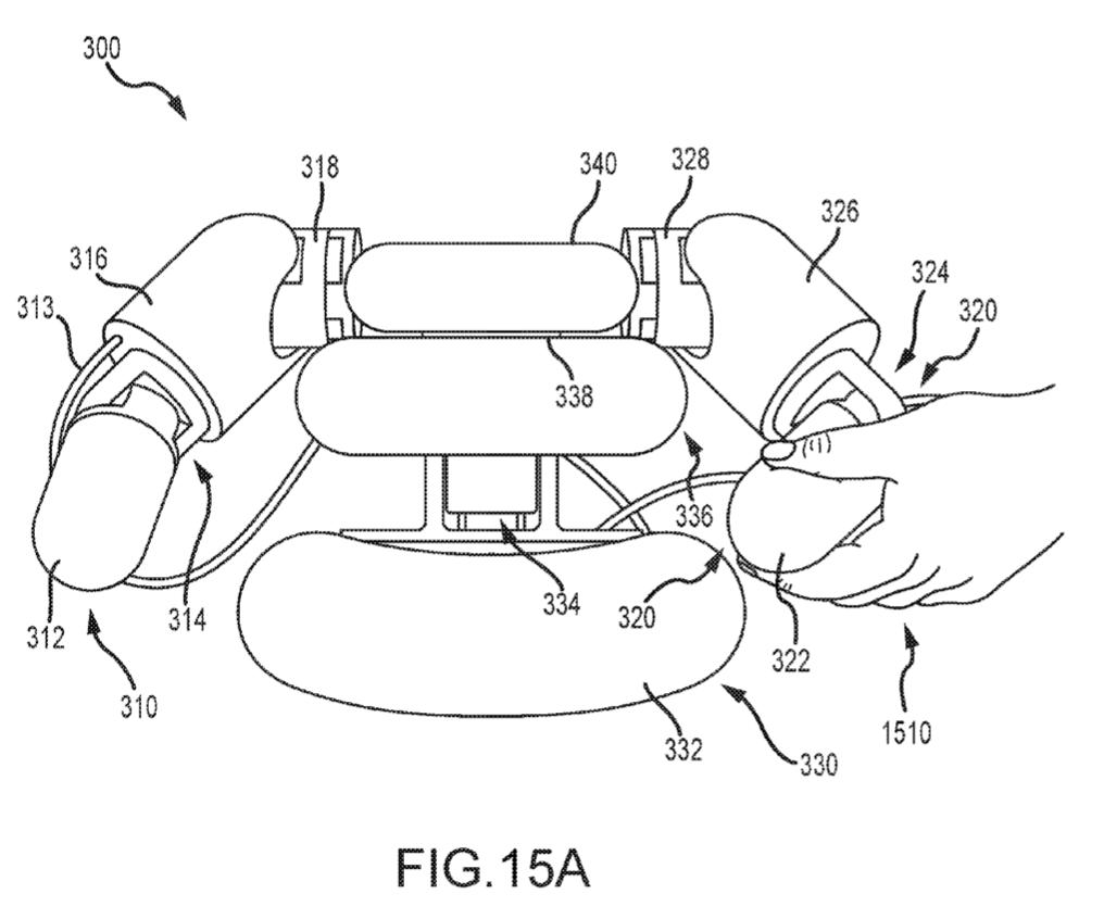 Patent diagram filed by Disney for a soft-robotic mascot.Image via Amane; Katsu; et al.