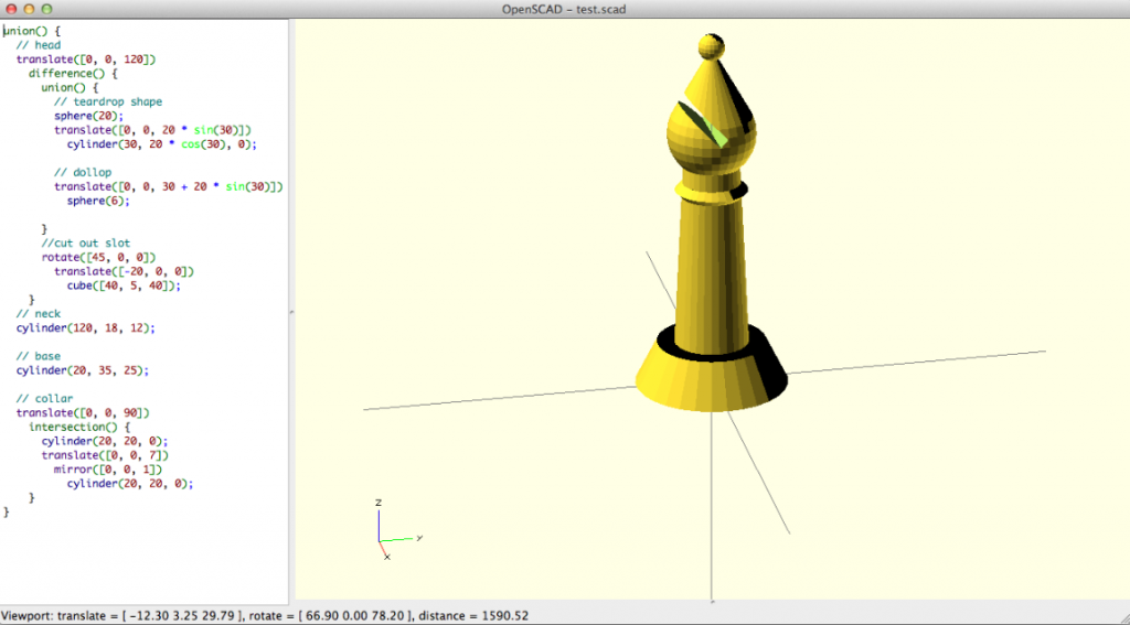OpenSCAD, a script-based model customization application