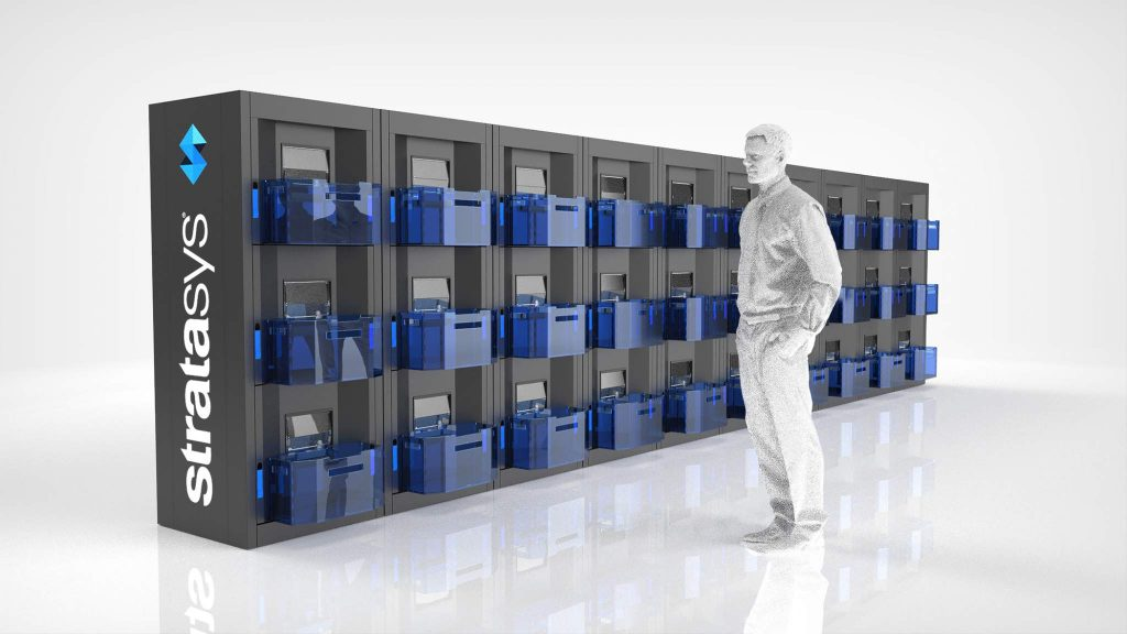 Render of the modular cells in the Stratasys Continuous Build 3D Demonstrator. Image via Business Wire