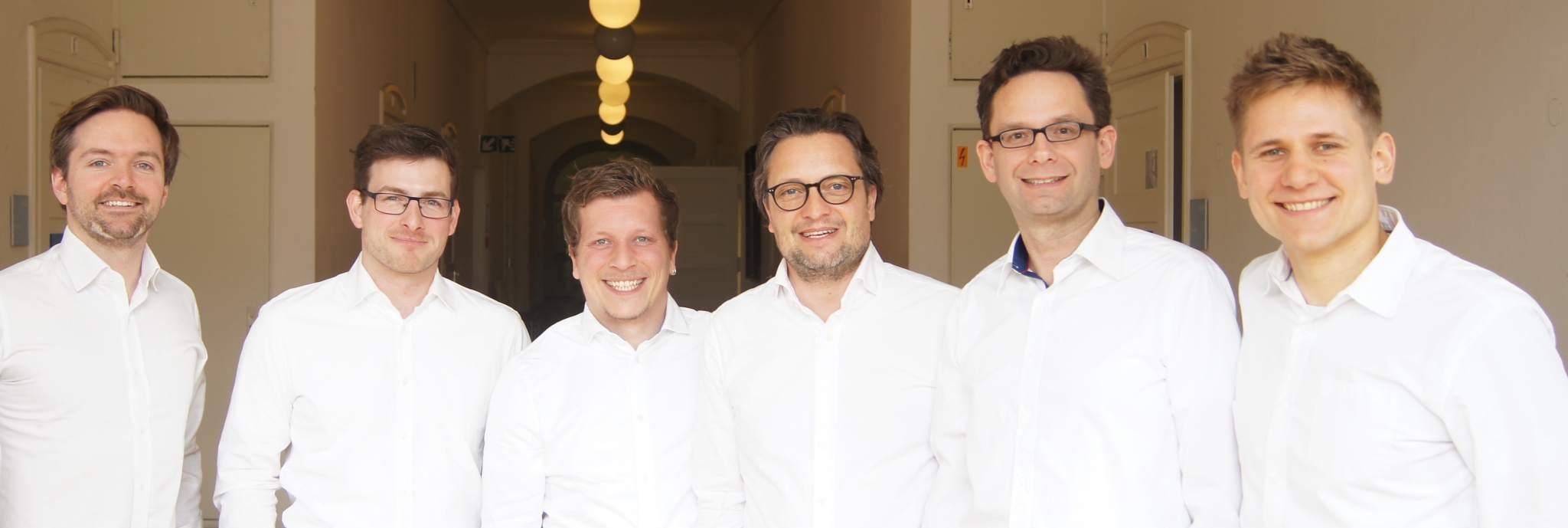 The Mecuris team founders, Manuel Opitz far right. Photo via Mecuris.