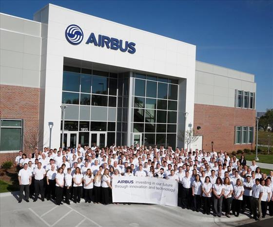 Airbus celebrating the opening of the Engineering Center at WSU. Photo via Airbus.