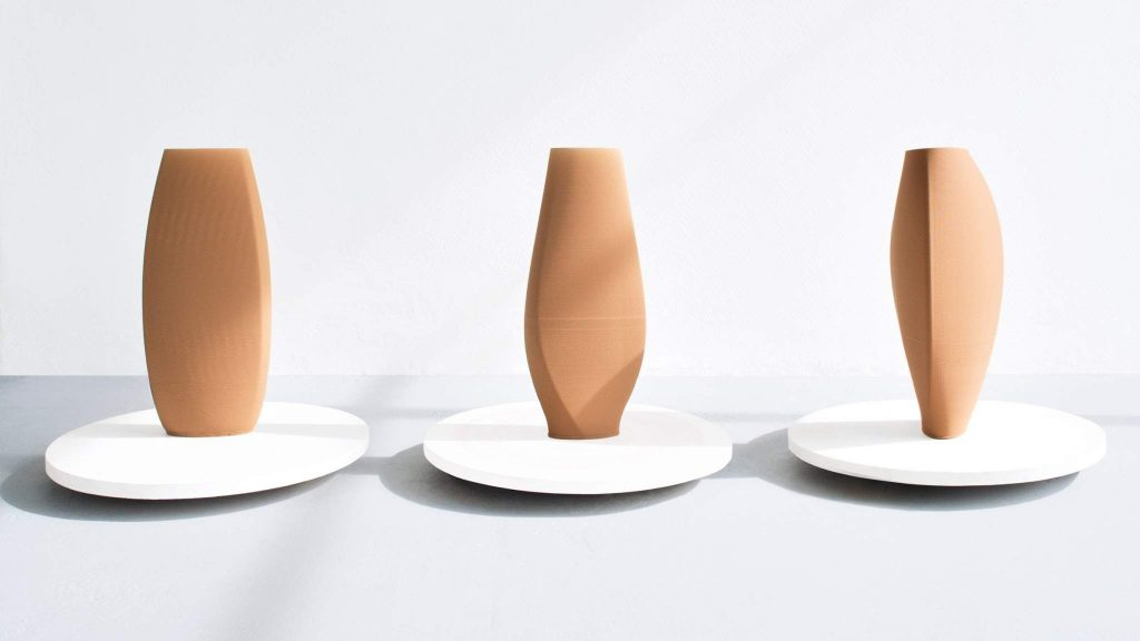 The range of COS X Olivier Van Herpt 3D printed vases. Image via COSstores