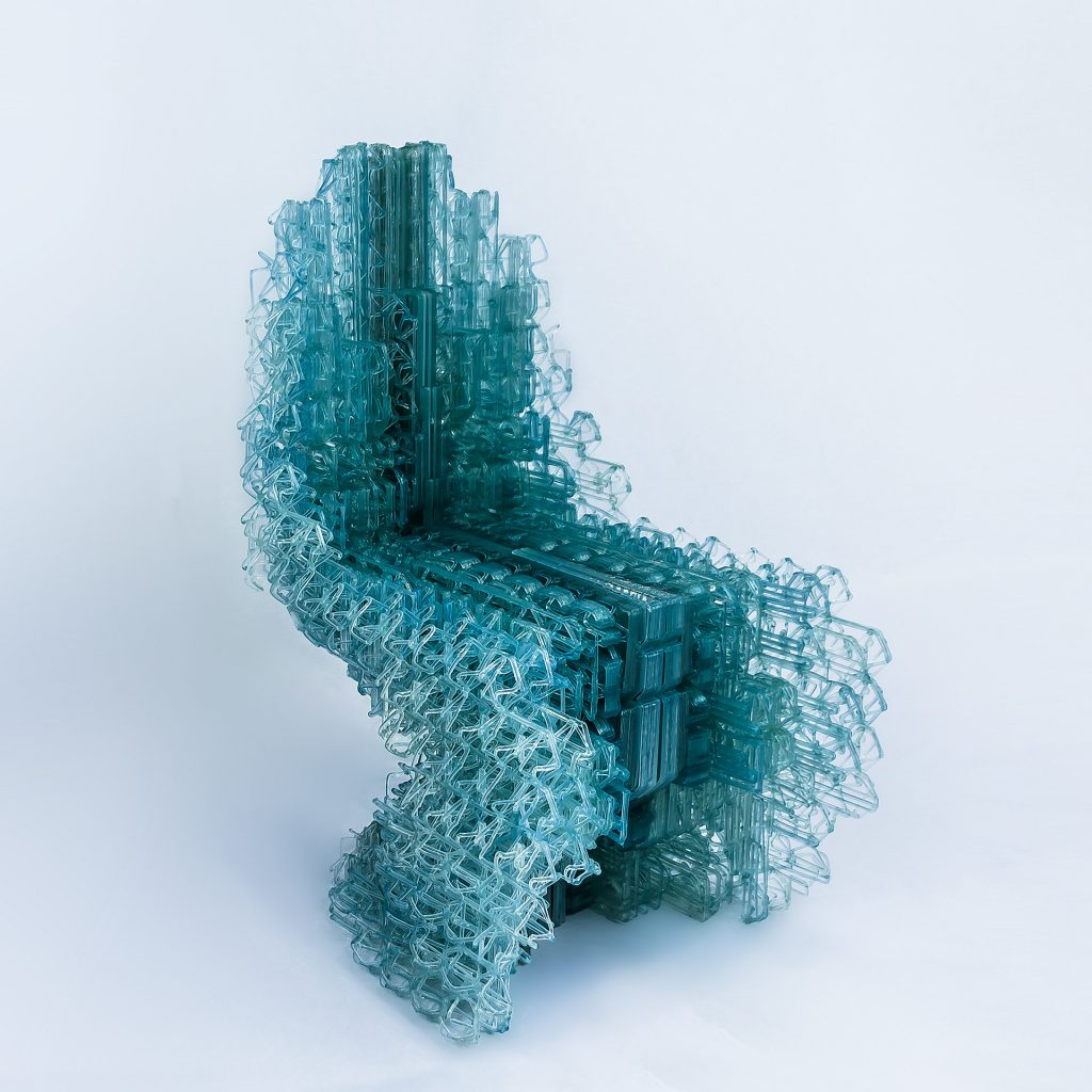 The Voxel Chair v1.o. Photo via Design Computational Lab.