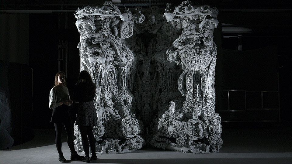 "Digital Grotesque II ""Grotto II"" test assembly at ETH Zurich. Photo by Michael Lyrenmann"