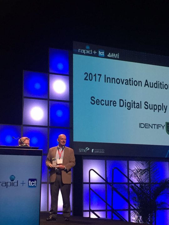 Identify3d receives the Rapid + TCT 2017 Innovation Award