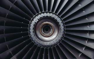 Jet engine. Photo via Oxford Performance Materials.
