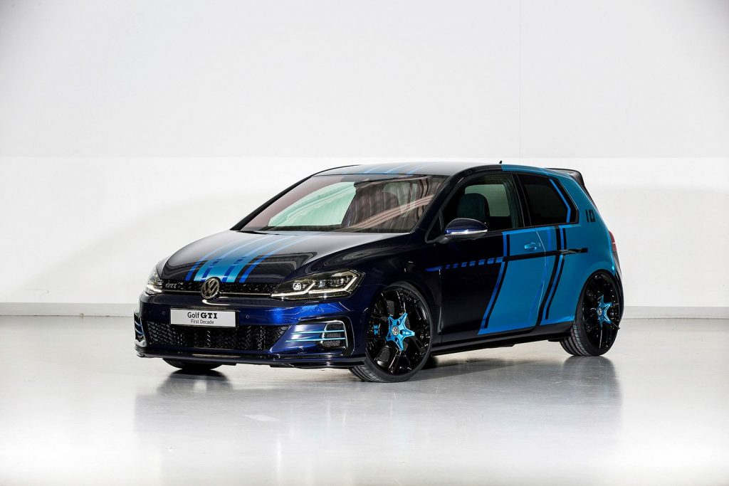 The VW Golf GTI First Decade model, produced with 3D printed parts. Photo via Volkswagen