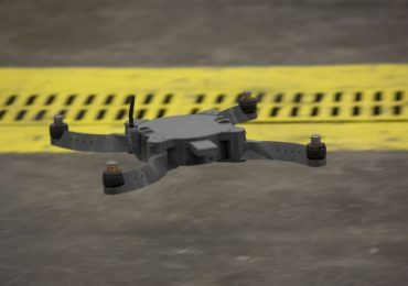 """""""The Nibbler drone is flown by U.S. Marines and civilian contractors with II Marine Expeditionary Force (II MEF) inside of the 2nd Maintenance Battalion warehouse on Camp Lejeune, N.C., May 18, 2017."""" U.S. Marine Corps photo by Lance Cpl. Taylor N. Cooper"""