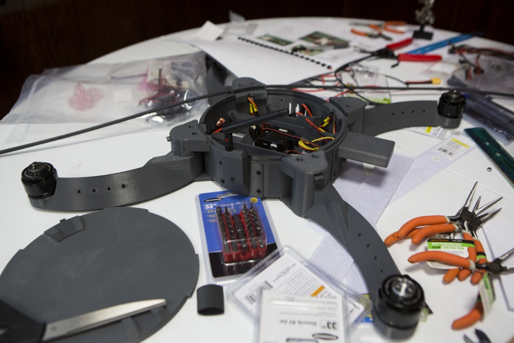 Assembly of the Nibbler drone. U.S. Marine Corps photo by Lance Cpl. Taylor N. Cooper
