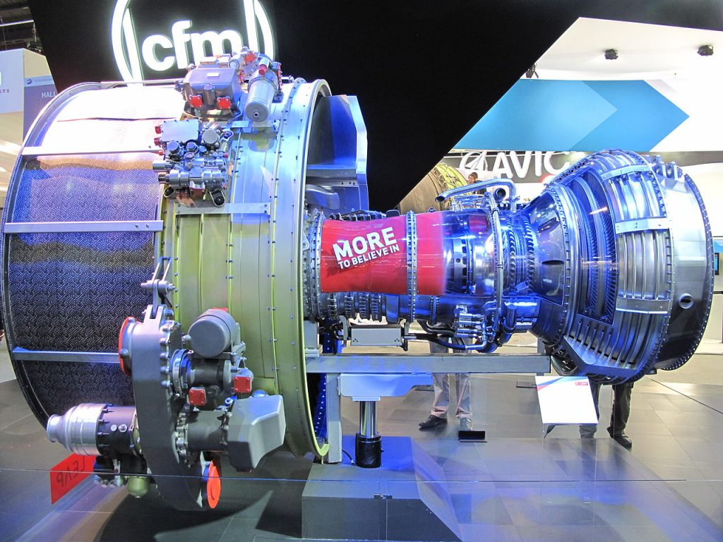 A CFM Turbofan LEAP engine at the 2013 Paris Air Show.