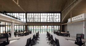 Inside 34,000 square metreStation F startup campus in Paris, France. Image via stationf.co