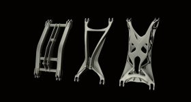 HyperWorks optomized metal frames for 3D printing. Image via Altair HyperWorks on Facebook