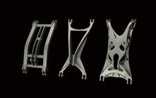 HyperWorks optomized metal frames for 3D printing. Image via Altair HyperWorks on Facebook