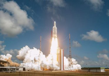 November 2016 launch of the Ariane 5 rocket, powered by a liquid oxygen-methane Vulcain engine. Photo via ArianeGroup