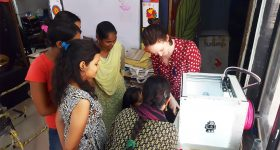 A 3D printing demonstration by PrintLab/Free_3D in India. Photo via PrintLab