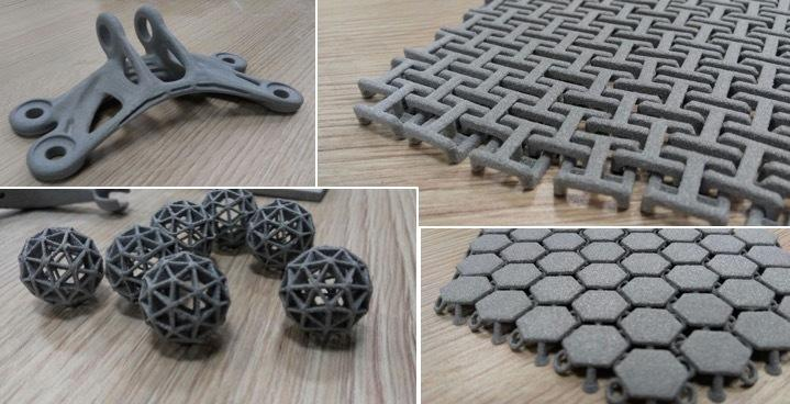 Immensa 3D printed Alumide parts using its Selective Laser Sintering (SLS) machines. Image via Immensa Labs.
