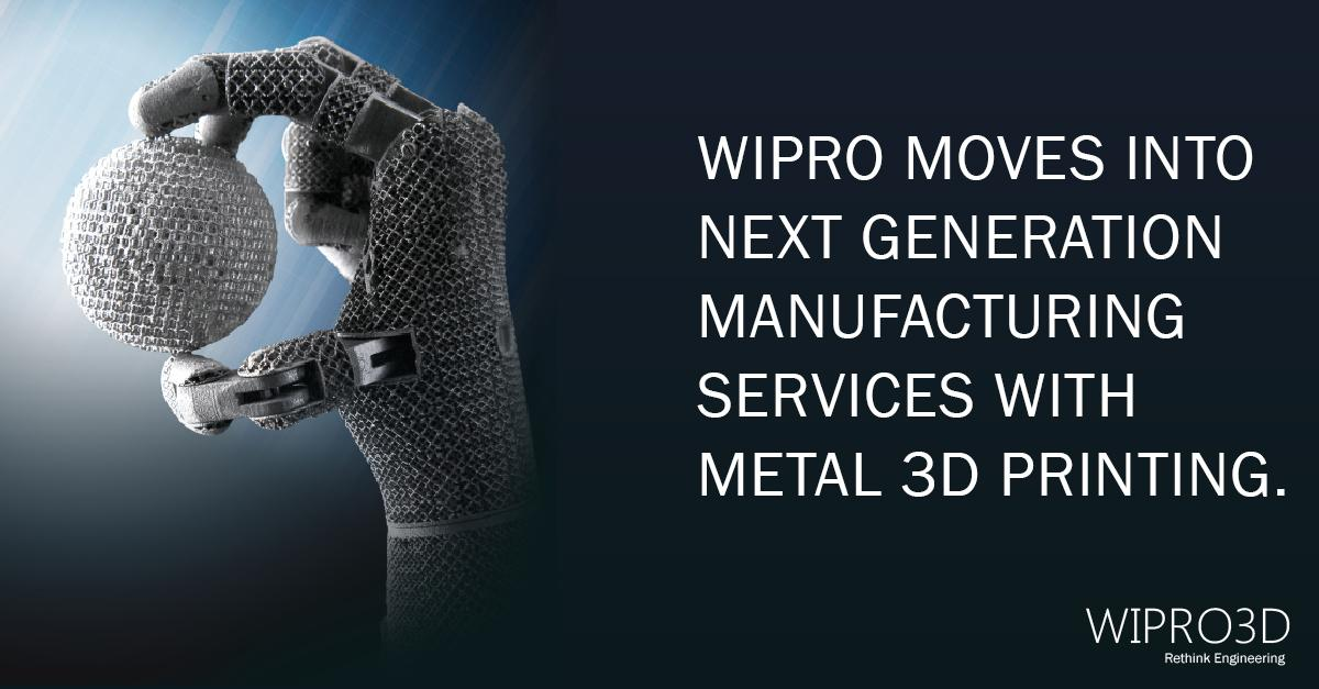 Wipro3D currently offers metal 3D printing services. Image via Wipro3D.