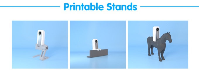 Example of 3D printable stands for the Waggle camera. Image via Joseph Sungpil Choi on Kickstarter