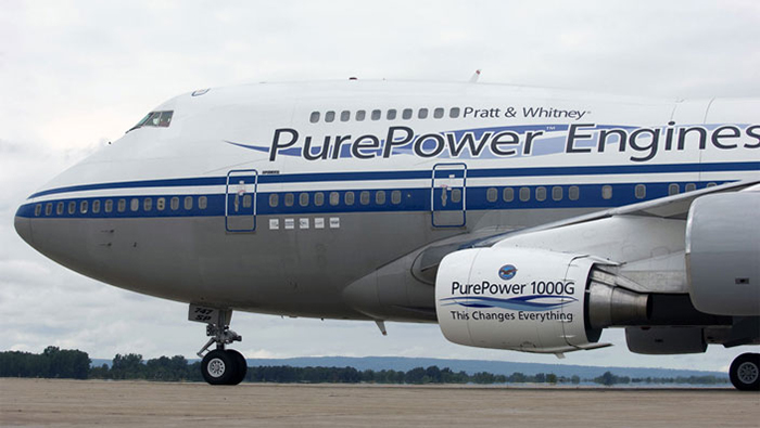 The PurePower PW1000G engine developed by Pratt & Whitney. Photo via Pratt & Whitney.